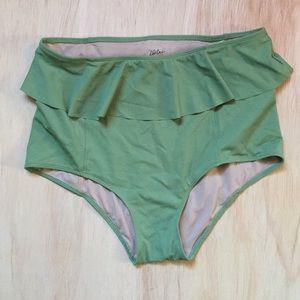 Kortni Jeane high rise sea green swim bottoms
